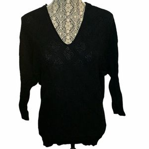 3/$30 Suzy Shier 3/4 Sleeve Knit Scoop Neck Large